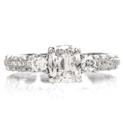 Tacori GIA Diamond Eternity Band Platinum Engagement Ring