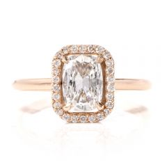 GIA Cushion Diamond D- VS2  18K Gold Engagement Ring