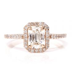 Cushion Halo GIA Diamond Rose Gold Engagement Ring