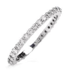 Diamond Eternity Platinum Band Ring Size 6