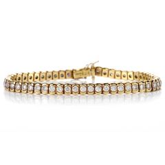 Italian Line Diamond 18 karat Yellow Gold Tennis Bracelet