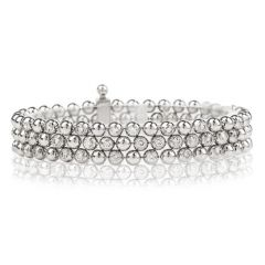 Cartier Diamond Draperie 18K White Gold Multi Strand Bracelet