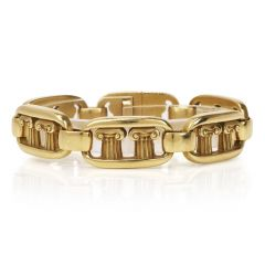Vintage Kieselstein-Cord Pompeii Column 18K Gold Bracelet