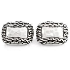 Estate Hammered Platinum Men's Cufflinks