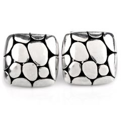 Estate Turtle Shell Platinum Men's Cufflinks