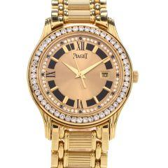 Piaget Polo Diamond Onyx 18K Yellow Gold Ladies Watch