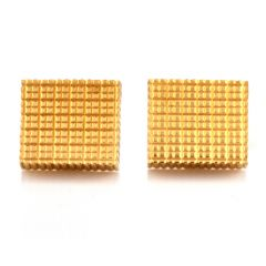 Estate Swiss Cube 18K Yellow Gold Men's Cufflinks