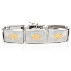 Buccellati Geminato Yellow Gold Silver Bracelet