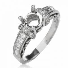 Tacori Diamond  Engagement Platinum Semi-mount Ring 1