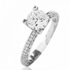 Tacori Diamond Platinum Eternity Engagement Semi-mount Ring