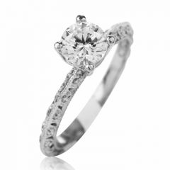 Tacori Diamond Platinum Eternity Engagement Semi-mount Ring