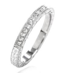 Tacori Diamond Platinum Wedding Band