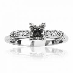 Tacori Diamond Platinum Engagement Semi-mount Ring