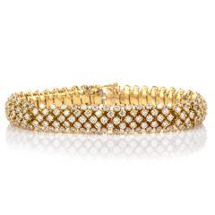 Vintage Diamond Domed 18K Bracelet