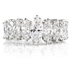 Vintage Diamond Eternity Platinum Marquise Engagement Ring
