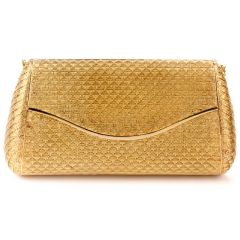 Vintage V&Co 18K yellow Gold Clutch Purse