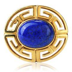 Egyptian Vintage Lapis Lazuli 14K Brooch Pin