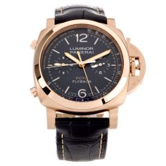 Preowned Mens Luminor Panerai PCYC Flyback Tachymeter PAM01020 Rose Gold Watch
