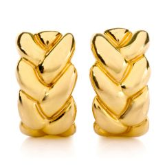 Cartier Estate 18K Yellow Gold Braid Clip-On Earrings