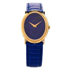 Vintage Piaget Lapis 18K Gold Mechanical Ref 9861 Leather Watch