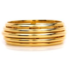 Piaget Possession 18K Yellow Gold Spinning Bangle Bracelet