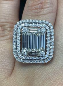 Estate 0.98ct Emerald Cut Diamond Engagement Ring