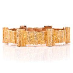 Vintage Lapponia Bjorn 14 Karat Yellow Gold Nugget Bracelet