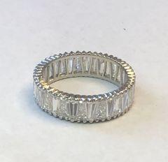 Baguette Diamond Eternity Plat Band Ring