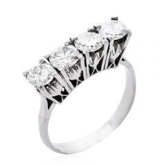 Estate 2.00ct Diamond Platinum Wedding Anniversary Band Ring