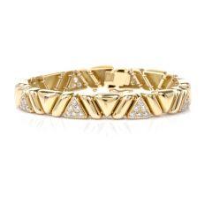 Estate Designer 18K Yellow gold bracelet