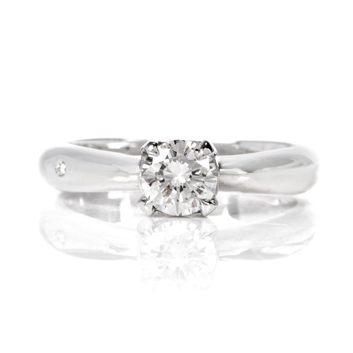 Chimento Diamond 18k White Gold Italian Engagement Ring