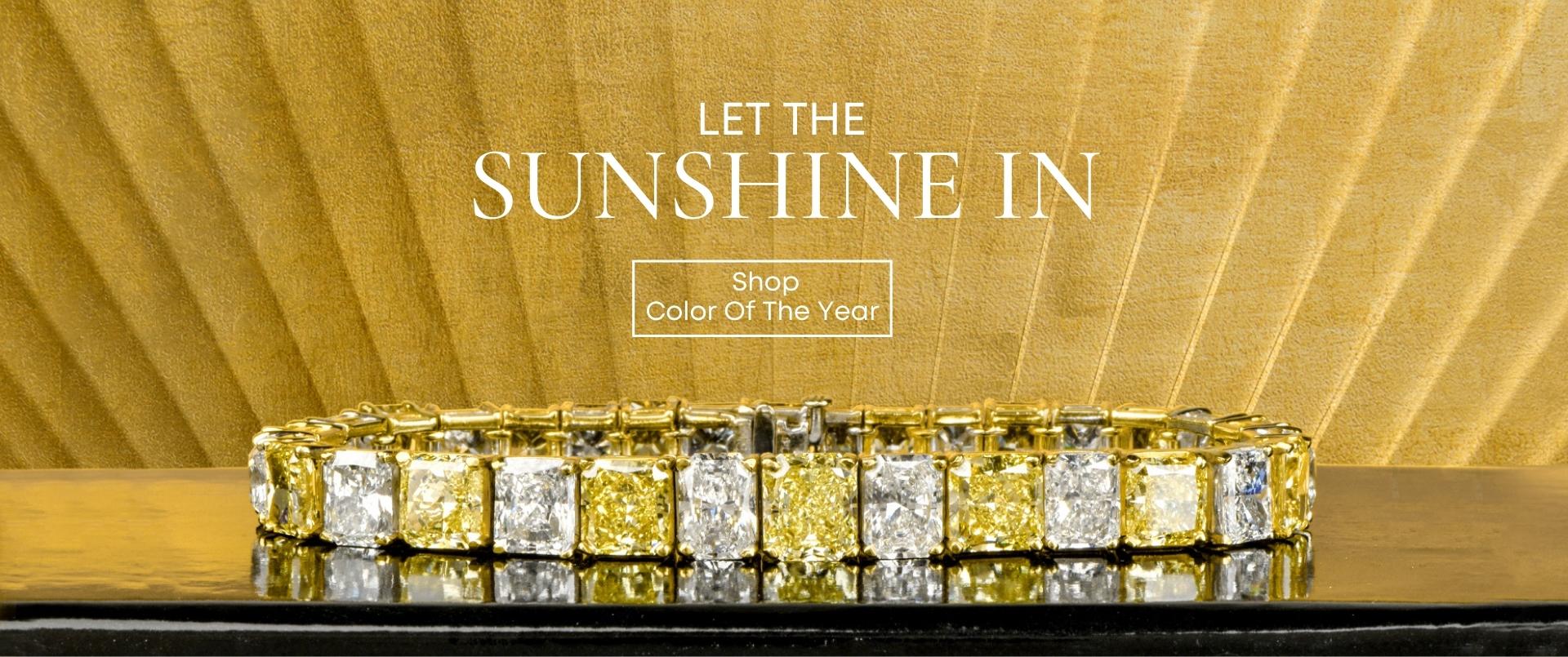 Yellow Diamond Bracelet l Pantone 2021 Color Of The Year l Dover Jewelry